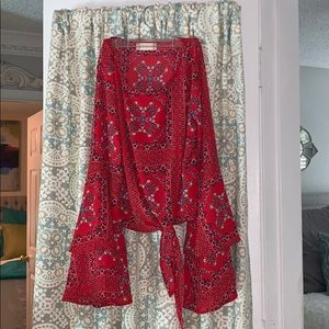 Altard State red blouse, size small!